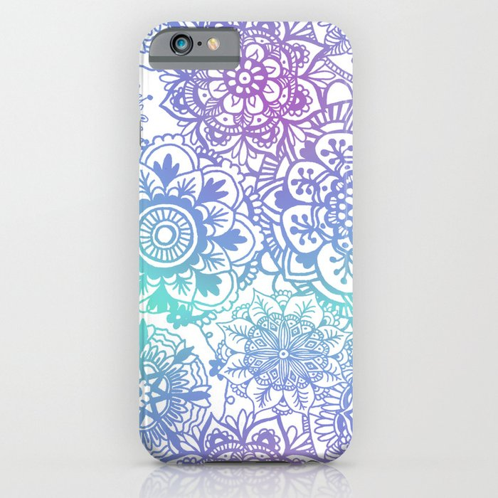 boho pastel mandala pattern iphone mobile samsung case