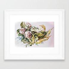 Rosal tenderness Framed Art Print