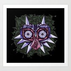 Triangle Majora's Mask Art Print