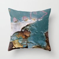 Teal Peel II Throw Pillow