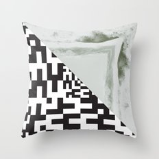 waves/grid #2 Throw Pillow