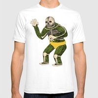 The Original Glowing Skull Mens Fitted Tee White SMALL