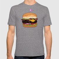 Bacon Cheeseburger Mens Fitted Tee Tri-Grey SMALL