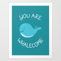 Whale, Thank You! Art Print
