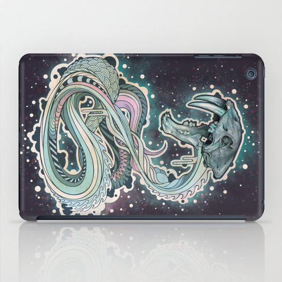 Saber-toothed Serpent in Space. iPad Case
