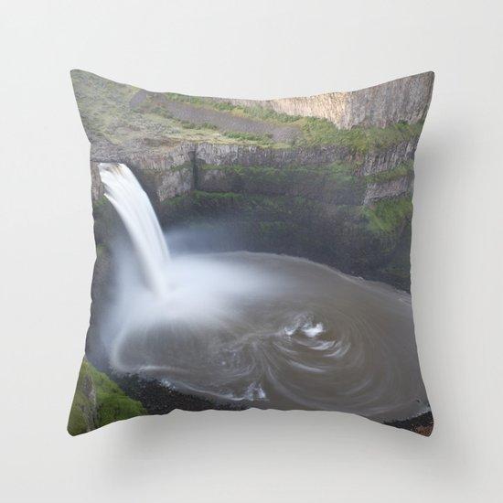 Palouse Falls at Sunrise Throw Pillow