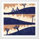 Lovely Hills of San Francisco Art Print