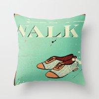 Walk Throw Pillow