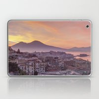 Napoli, landscape with volcano Vesuvio and sea Laptop & iPad Skin