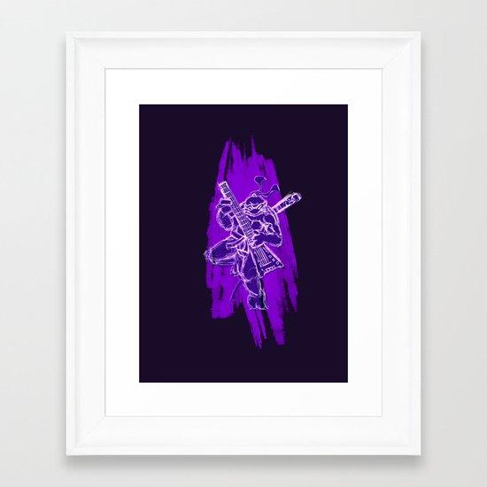 TMNT Rock: Don Framed Art Print