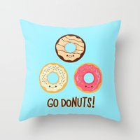 Go doNUTS! Throw Pillow