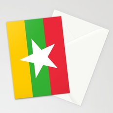 flag of Myanmar Stationery Cards