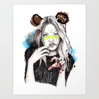 Griz Art Print