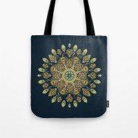 Gardenia Window Mandala  Tote Bag