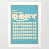Finding Dory Poster Set Art Print