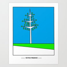 Tree Growth Art Print