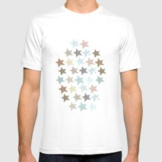 stars SMALL White Mens Fitted Tee