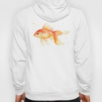 Goldfish Painting Watercolor Fish Hoody