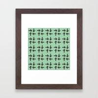 camera 02 pattern Framed Art Print
