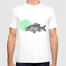 mint bubble SMALL White Mens Fitted Tee