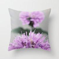 Porcupine Purple Throw Pillow