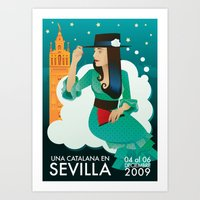 Sevilla Feria Art Print