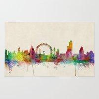 London Skyline Watercolo… Rug