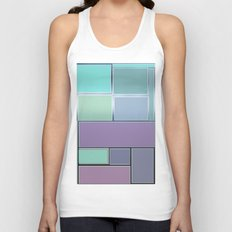 the door and the glazed windows pattern Unisex Tank Top