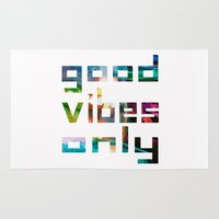 good vibes only // Coachella Rug
