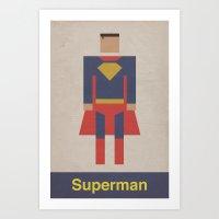 Man Of Steel Retro Art Print