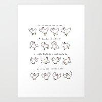 Chicken Dance Art Print