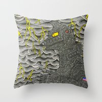 Mecha Godzilla Throw Pillow