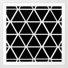 BLACK & WHITE TRIANGLES 2 Art Print