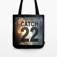 catch 22 textured Tote Bag