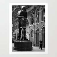 Kiss by the King's Cross Station Art Print