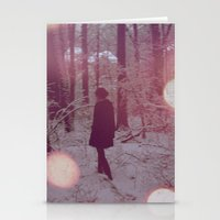 Pink Moon Stationery Cards