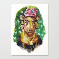 Canvas Print featuring Frida Kahlo by Becca Kallem