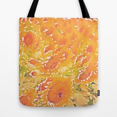 Sunflowers Summer Botanical Tote Bag