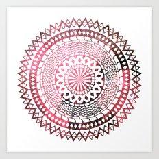 Nebula Snake Mandala Art Print