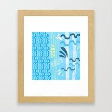 Water rays Framed Art Print