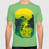 MAD SCIENCE! Mens Fitted Tee Grass SMALL