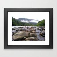 A Day Spent On The Rocks Framed Art Print