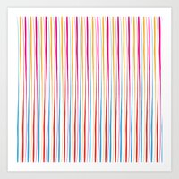 Happy Wobbly Lines II Art Print