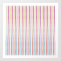 Happy Wobbly Lines II Art Print
