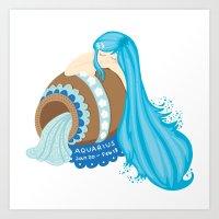 Aquarius Girl Art Print