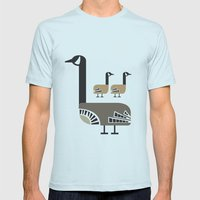 Holly Goose Mens Fitted Tee Light Blue SMALL