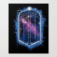 Time, Space, And Graffit… Canvas Print