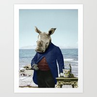 Mr. Rhino's Day At The B… Art Print
