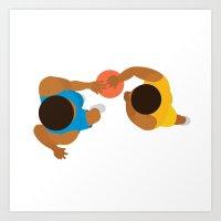 Basketball / Geometrical… Art Print