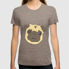 Pug! Womens Fitted Tee Tri-Coffee SMALL